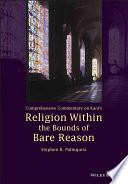 Read Online Comprehensive Commentary on Kant's Religion Within the Bounds of Bare Reason For Free