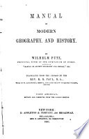 Manual of Modern Geography and History
