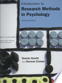 Introduction to Research Methods in Psychology Book