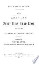 The American Short horn Herd Book     Book