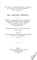 In the Matter of the Complaint Against Egbert C. Smyth and Others, Professors of the Theological Institution in Phillips Academy, Andover