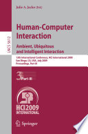 Human Computer Interaction  Ambient  Ubiquitous and Intelligent Interaction Book