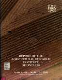 Report of the Agricultural Research Institute of Ontario