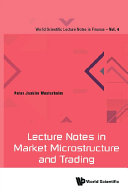 Lecture Notes In Market Microstructure And Trading Pdf/ePub eBook