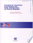 Searching For Innovations In Governance And Public Administration For Poverty Reduction