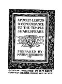 A Pocket Lexicon Concordance To The Temple Shakespeare