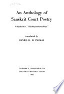 An Anthology of Sanskrit Court Poetry