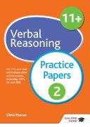 11+ Verbal Reasoning Practice Papers 2