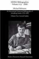 An International Annotated Bibliography of Strindberg Studies 1870 2005  General studies