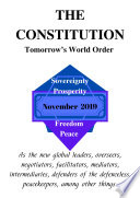 The Constitution Tomorrow S World Order