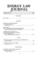 Energy Law Journal
