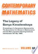 The Legacy of Sonya Kovalevskaya