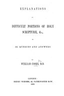 Explanations of Difficult Portions of Holy Scripture   c   in 565 queries and answers