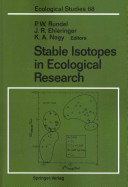 Stable Isotopes in Ecological Research