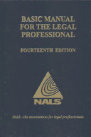 Basic Manual for the Legal Professional