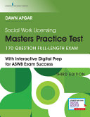 Social Work Licensing Masters Practice Test Book