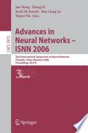 Advances in Neural Networks   ISNN 2006 Book