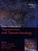 Dekker Encyclopedia of Nanoscience and Nanotechnology