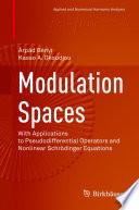 Modulation Spaces