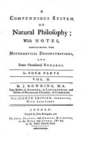 A compendious system of natural philosophy     The eighth edition  corrected  with additions