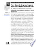 Plant Genetic Engineering and Intellectual Property Protection Book
