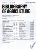 Bibliography of Agriculture  , Band 55