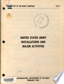 United States Army Installations and Major Activities