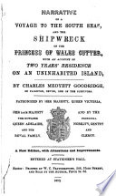 Narrative of a Voyage to the South Seas  and the Shipwreck of the Princess of Wales Cutter Book PDF