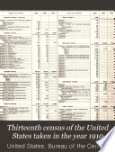 Thirteenth Census of the United States Taken in the Year 1910