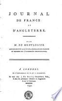 Journal de France et d'Angleterre