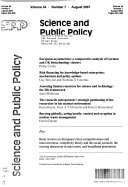 Science   Public Policy