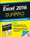 Excel 2016 For Dummies Book + Online Videos Bundle