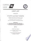 Light List  2012  V  3  Atlantic and Gulf Coasts  Little River  South Carolina to Econfina River  Florida  Includes Puerto Rico and the U S  Virgin Islands  Book