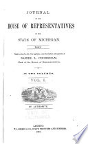 Journal of the House of Representatives of the State of Michigan Book PDF