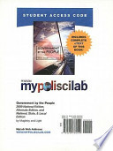 Government by the People Mypoliscilab With Pearson Etext Standalone Access Card