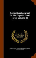 Agricultural Journal Of The Cape Of Good Hope