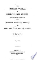 The Madras Journal of Literature and Science