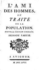 Pdf L'ami Des Hommes, Ou Traité de la Population