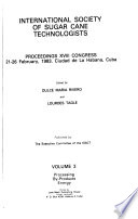 Proceedings of the International Society of Sugarcane Technologists