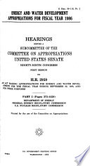 Energy and Water Development Appropriations for Fiscal Year 1986: Department of Energy