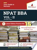 NPAT  BBA  Entrance Exam VOL   2 2020   15 Mock Tests  Sectional Tests For Complete Preparation
