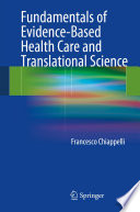 Fundamentals Of Evidence Based Health Care And Translational Science Book PDF