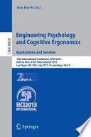 Engineering Psychology and Cognitive Ergonomics. Applications and Services