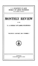 Monthly Review Of The U S Bureau Of Labor Statistics Volume Ii January To June 1916