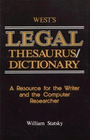 West s Legal Thesaurus dictionary