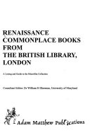 Renaissance Commonplace Books From The British Library London
