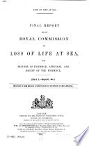 Final Report of the Royal Commission on Loss of Life at Sea