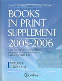 Bowker S Books In Print Supplement 2005 2006