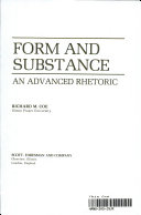 Form and Substance Book