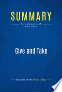 Summary: Give and Take